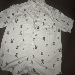Boys Skull and Bones Button Down by Wonder Nation